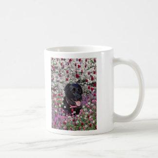Abby in Flowers – Black Lab Dog Mug