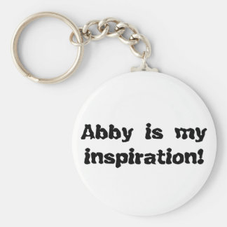 Abby is my Inspiration Basic Round Button Key Ring