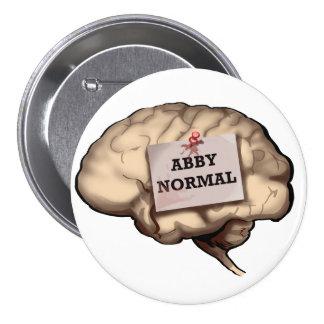 Abby Normal Brain 7.5 Cm Round Badge