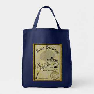 Abby Normal Brain Old Label Tote Bag