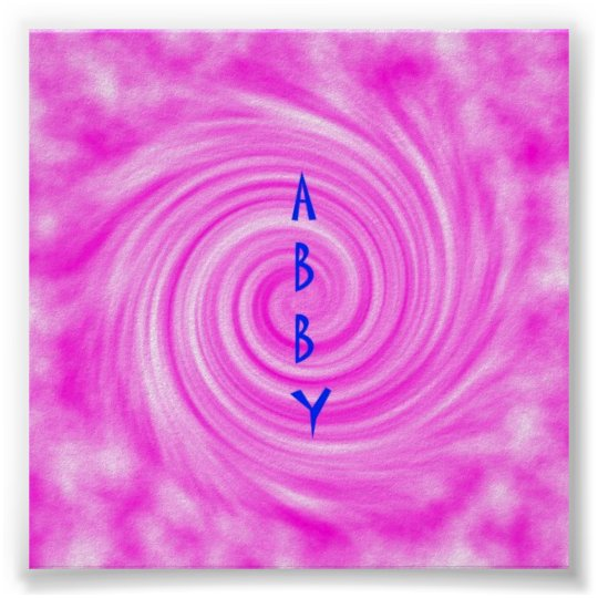 Abby Poster Pink