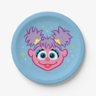 Abby Smiling Face 7 Inch Paper Plate