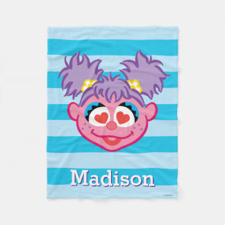 Abby Smiling Face | Add Your Name Fleece Blanket