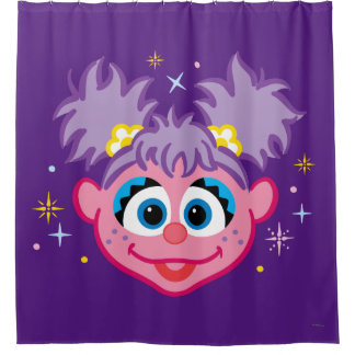Abby Smiling Face Shower Curtain