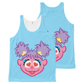 Abby Smiling Face with Heart-Shaped Eyes All-Over Print Tank Top