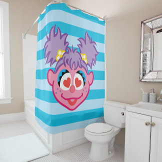 Abby Smiling Face with Heart-Shaped Eyes Shower Curtain