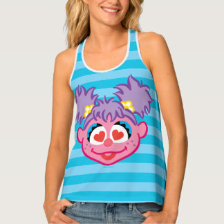 Abby Smiling Face with Heart-Shaped Eyes Tank Top