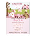 Abby's Farm Animal Baby Shower GIRL PINK AFC