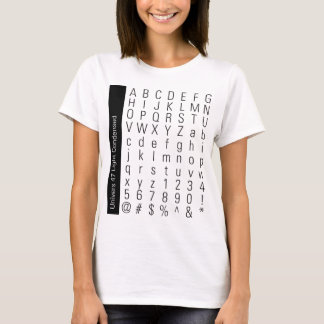 ABC123 Univers 47 Light Condensed T-Shirt
