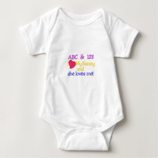 ABC & 123 I My Nanny & She Loves Me! Baby Bodysuit