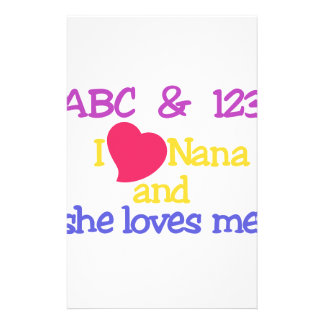 ABC & 123 I Nana And She Loves Me! Stationery