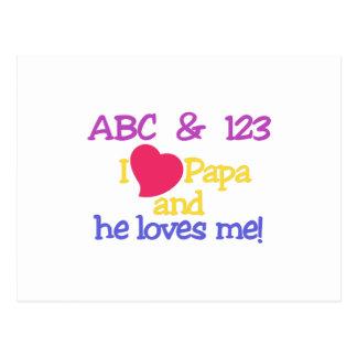 ABC & 123 I Papa & He Loves Me! Postcard