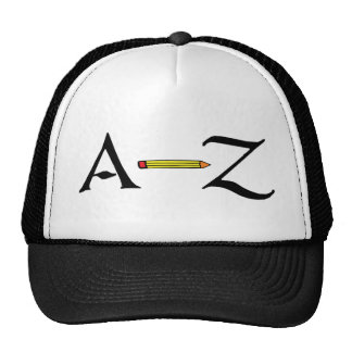 abc a-z school student icon trucker hat