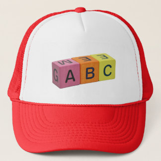 ABC Alphabet Blocks Trucker Hat