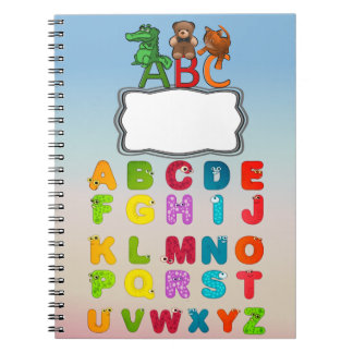 ABC Alphabet Letters Custom Spiral Notebook