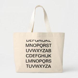 ABC- Alphabet Jumbo Tote Bag