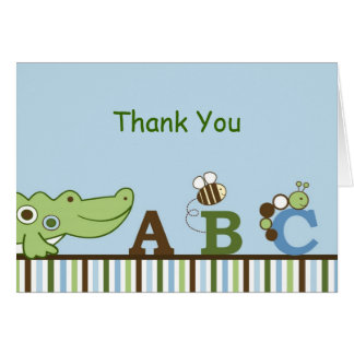 ABC Animal Alphabet Thank You Note Cards