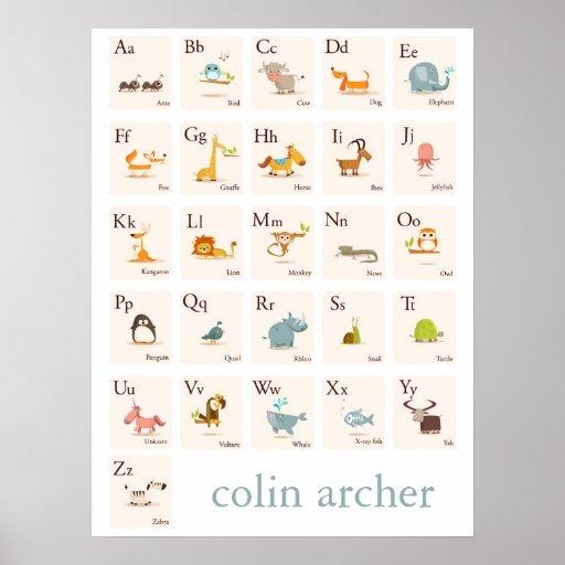 ABC Animal Nursery Print