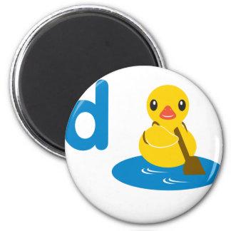 ABC Animals - Paddle Duck 6 Cm Round Magnet