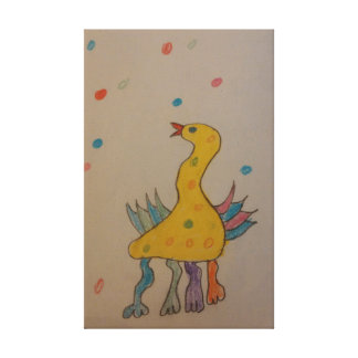 #ABC Art by Children, Easter Duck Gallery Wrapped Canvas