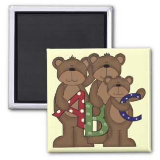 ABC Bears Tshirts and Gifts Square Magnet