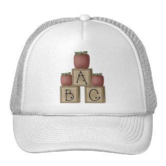 ABC Blocks and Apples Cap