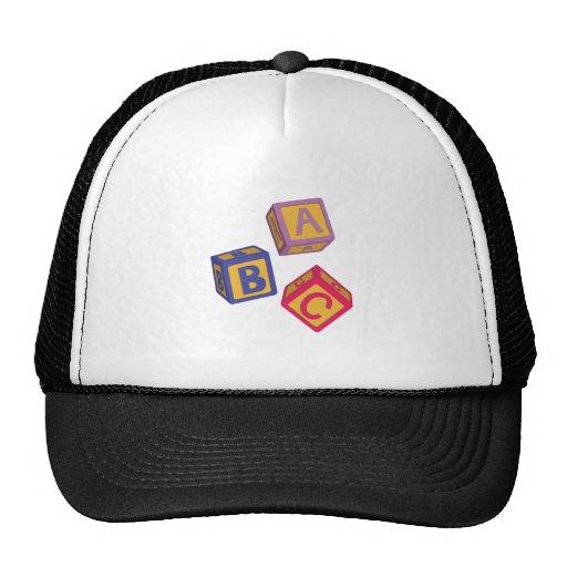 ABC Blocks Mesh Hats