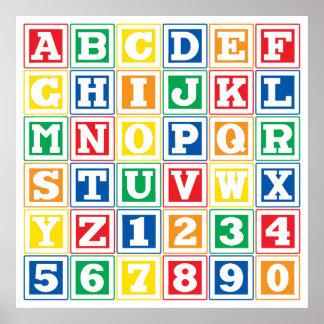 ABC Blocks Poster