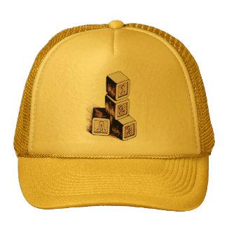 ABC BLOCKS VINTAGE HAT