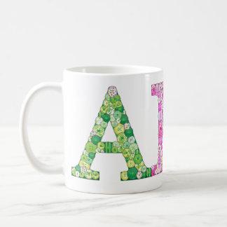 ABC Button Letter coffee mug