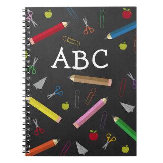 ABC Chalkboard Apple Rainbow Scissors Paper Clips Notebooks