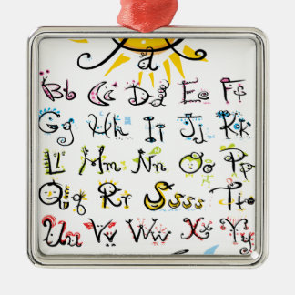 ABC chart Christmas Ornament