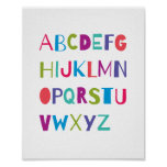 ABC Colourful Alphabet Nursery Art Wall Decor