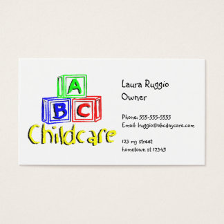 abc daycare 3 business card