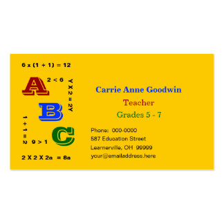 ABC Education Pack Of Standard Business Cards