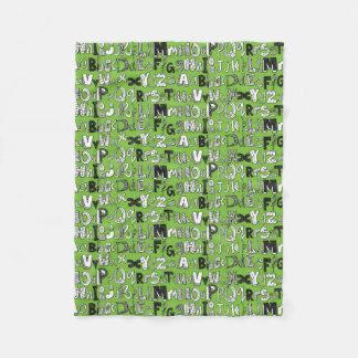 ABC green Fleece Blanket
