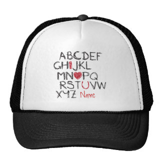 ABC I Heart You Personalised Cap