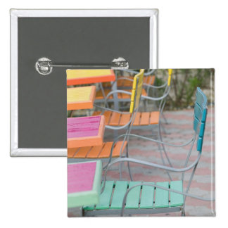 ABC Islands, ARUBA, Palm Beach: Colorful Cafe 15 Cm Square Badge