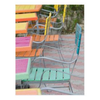 ABC Islands, ARUBA, Palm Beach: Colorful Cafe Postcard