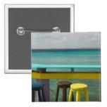 ABC Islands, BONAIRE, Kralendijk: Ocean View 15 Cm Square Badge