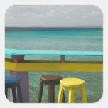 ABC Islands, BONAIRE, Kralendijk: Ocean View Square Sticker