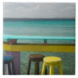 ABC Islands, BONAIRE, Kralendijk: Ocean View Large Square Tile