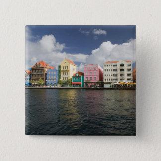 ABC Islands, CURACAO, Willemstad: Harborfront 15 Cm Square Badge