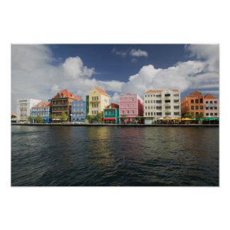 ABC Islands, CURACAO, Willemstad: Harborfront Poster