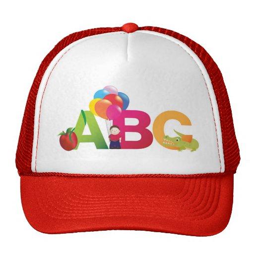 ABC LETTERS MESH HAT