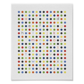 ABC Modern Dot Wall Art Poster