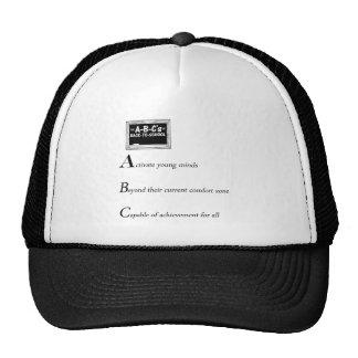 abc of back to school copy mesh hats
