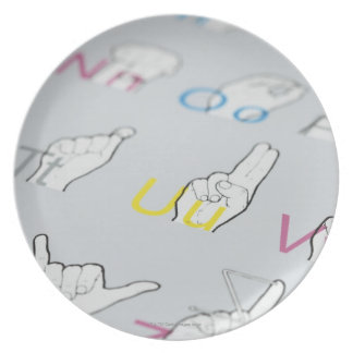 ABC of sign language Dinner Plate