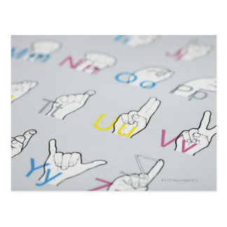 ABC of sign language Postcard