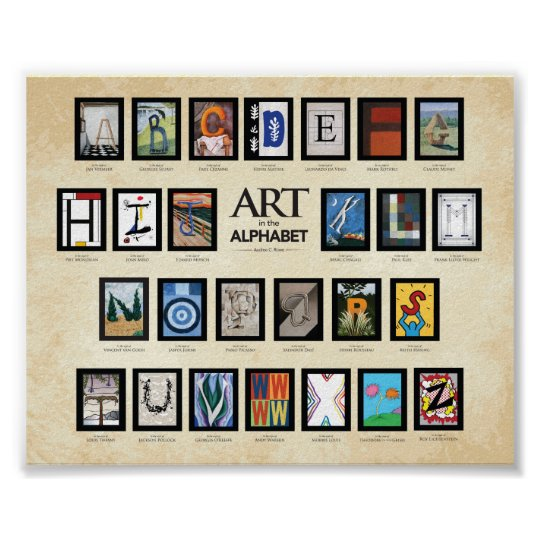 ABC Poster - Art in the Alphabet